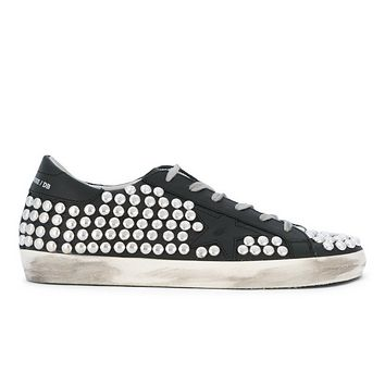 GOLDEN GOOSE DELUXE BRAND SUPERSTAR SNEAKERS STUDDED BLACK
