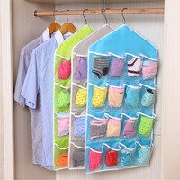 Multifunction Classified Pouch Clothes Underwear Bra Sock Wash Storage Bag Household Cabinet Hanging Closet Organizer Bag