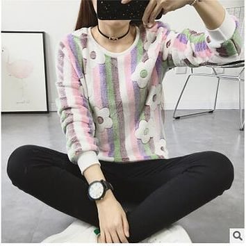23.99Autumn Winter Loose Hoodies Top Face Smiling Expression Prints Harajuku Hoodies High Quality Flannel