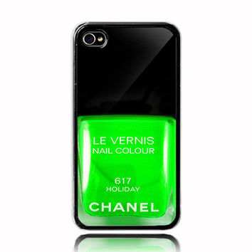 Nail Polish  Chanel  D iPhone 4 4s Case (Black Case) - Optional : White Side