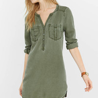 Silky Soft Twill Tunic Dress from EXPRESS