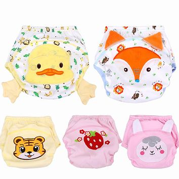 Super Soft Cotton Panties Briefs Boy Girls Baby Diaper Cover Nappies Kids Training Reusable Cartoon Nappy