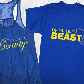Couple's (2) Beauty/Beast (EPCOT) shirts