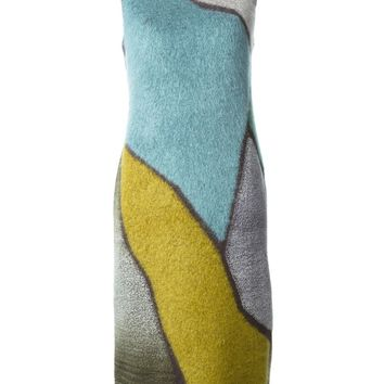 Missoni knitted colour block dress