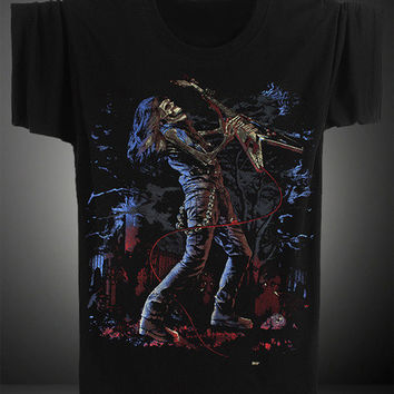 Mens Death Keeps Rocking Out T-shirt