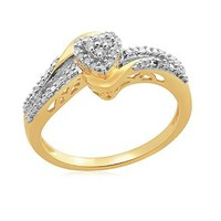 Eternal Treasures Diamond Heart Promise Ring: Classic Gifts from Kmart