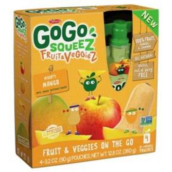 Gogo Squeez Mighty Mango Fruit & Veggies On The Go - 12.8oz
