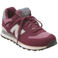 New Balance 574 Terry Pennant Pack Burgundy Burgundy Sneaker