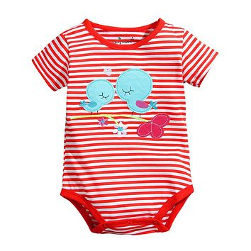 Baby Clothing Newborn Infant Boys Girls Rompers Cotton Striped Cartoon Jumpsuits Infant Spring Summer Jumpsuit