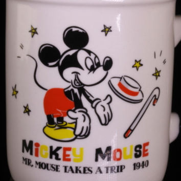 Disney Mr. Mouse Takes A Trip 1940 Color Mug