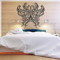 Wall Decor Vinyl Sticker Room Decal Butterfly Insect Fly Flying Wings Flower Nature Sky Bedroom Ornament Symbol (s222)
