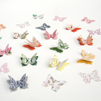 Butterfly Confetti, Garden Party Decor, Spring Wedding Accent, Bridal Shower, Baby Shower Decor, 3D Paper Butterflies