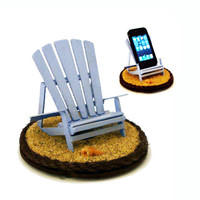 RESERVED FOR LAUREN: iBeach in Lifeguard Blue - A multi-functional iPhone stand
