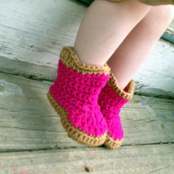 Childrens Custom Crochet Cowboy Booties, Cowgirl Boots, Western Party, Cowboy Birthday