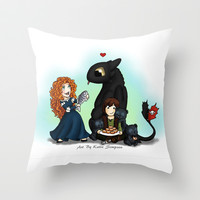 Together Throw Pillow by Katie Simpson