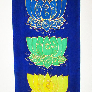 Chakra wall hanging, Lotus wall hanging,chakra art, metaphysical art, yoga art, reiki art. healing art, new age art, spiritual art