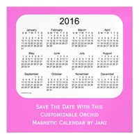 2016 Orchid Calendar by Janz 5 x 5 Magnet Magnetic Invitations