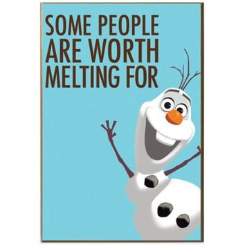 Disney® Frozen Some People Are Worth Melting For Wall Art