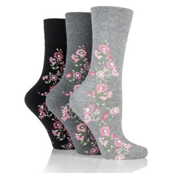 Non Binding Socks for Women in Climbing Rose