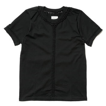 S/S Braided Tee Black