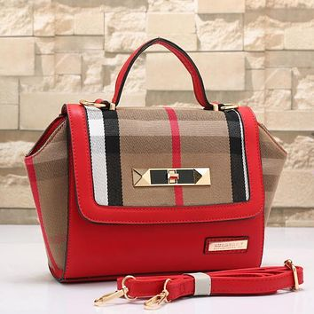 Burberry Women Fashion Leather Shoulder Bag Tote Satchel Crossbody