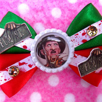 Freddy Krueger Nightmare on Elm St Horror Hair Bow