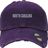 north carolina Distressed Baseball Hat
