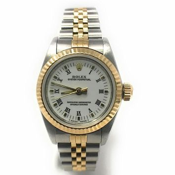 Rolex Oyster Perpetual swiss-automatic womens Watch 67193 (Certified Pre-owned)