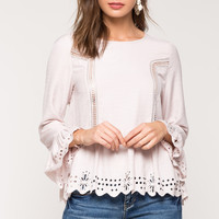 Crochet Laser Cut Blouse