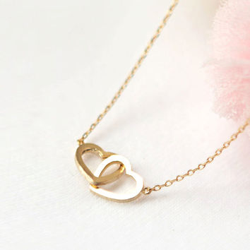 Linked Infinite Heart Necklace