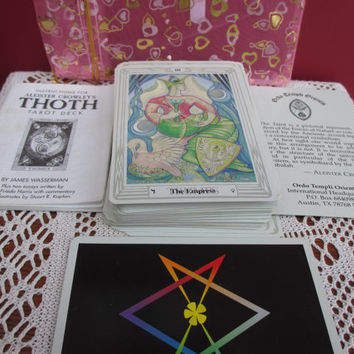Vintage Aleister Crowley Thoth Tarot Deck, Large Cards 1993 Edition, Collectors Cards