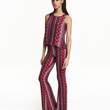 Patterned Jazz Pants - from H&M