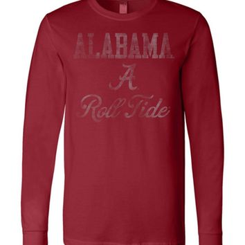 Official NCAA Venley University of Alabama Crimson Tide UA ROLL TIDE! Long Sleeve T-Shirt - 30AL-1