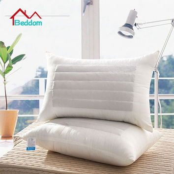 Beddom Pillow White Buckwheat Fillded Health Care Single Bed Pillows Sleeping Pillow Decorative Neck Bed Pillows 73*43cm Quality