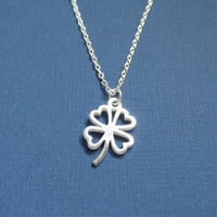 All Sterling Silver, Clover, Necklace, Silver, Clover, Flower, Jewelry, Clover, Pendant, Clover, Charm, Good, Luck, Gift, Birthday