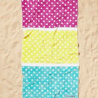 Sunnylife Sorrento Polka Dot Beach Towel- Purple Multi One