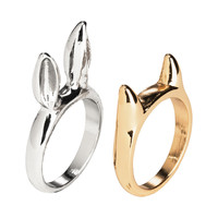 H&M - 2-pack Rings - Gold/Silver - Ladies