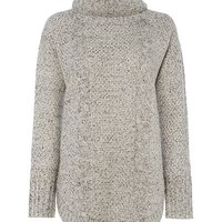Long sleeve roll neck knit jumper