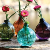 ball vase with iron base \ violet