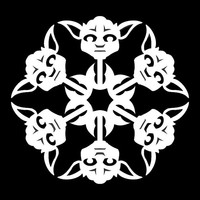 Star Wars Yoda Snowflake Cross Stitch Pattern | Los Angeles Needlework