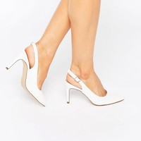 New Look Wide Fit Sling Back Heeled Shoe