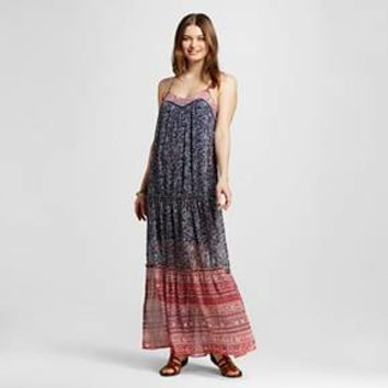 Women's Ruffle Maxi Dress Mixed Floral Print - Xhilaration™ (Juniors')