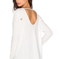 Knot Sisters Vice Versa Top in Winter White
