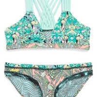 Maaji 'Minty Madness' Reversible Two-Piece Swimsuit (Little Girls & Big Girls)