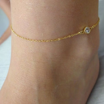 Sexy Shiny Ladies Jewelry Cute Gift New Arrival Stylish Hot Sale Accessory Simple Design Chain Anklet [8080504647]
