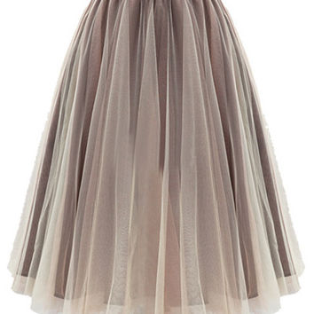 Pleated Ball Gown Skirt