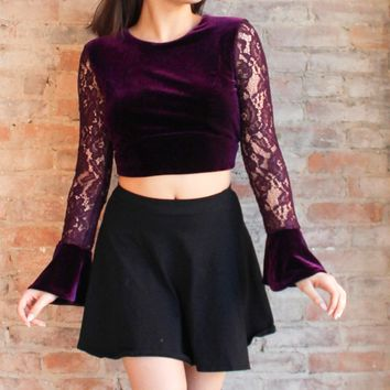 Elora Crop Top - plum