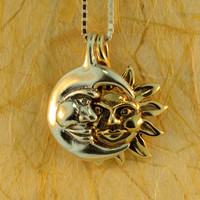 Eclipse Pendant with Gold Sun and Silver Moon