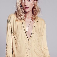 Free People Womens Breakfast in Bed Buttondown