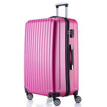 "Fochier Luggage Spinner Suitcase Lightweight 4 Wheels With TSA Lock 20 Inch 28Inch 28""-Rose red '"